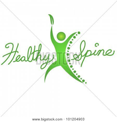 An image of a healthy spine background icon.
