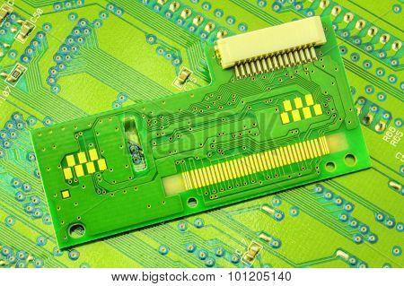 Electronic circuit board closeup