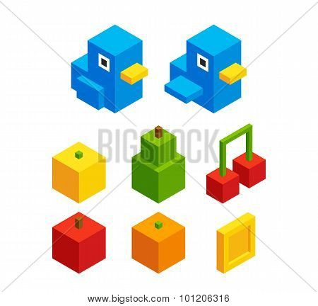 Isometric Objects For Video Game