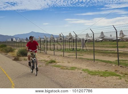 Aviation Bikeway, Tucson, And The Davis Monthan Boneyard