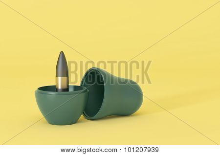 Visualization of nesting doll with bullet