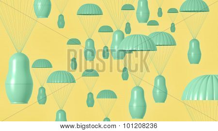 Visualization of nesting doll paratroopers