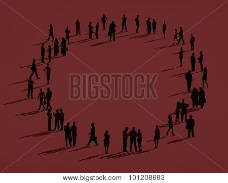 Community Business Connection Organization Team Concept