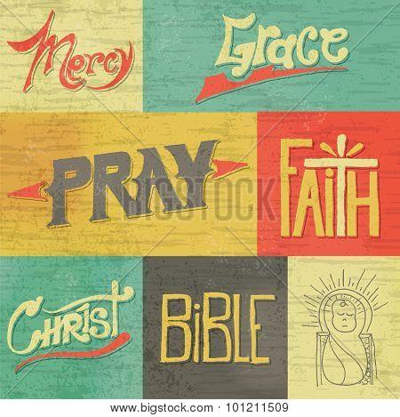 Vintage Hand Drawn Faith Graphics