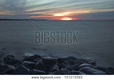 Sunset on the Gulf of Finland, Russia