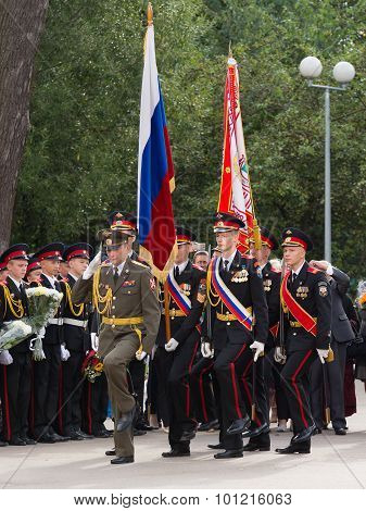 Parade on September 1 in the First Moscow Cadet Corps