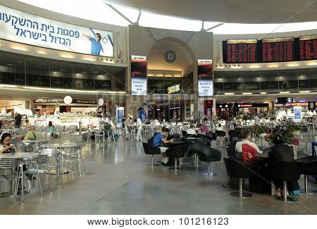 Ben Gurion International Airport In Tel Aviv, Israel.