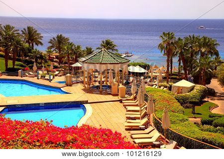 Tropical Luxury Resort Hotel, Sharm El Sheikh, Egypt.