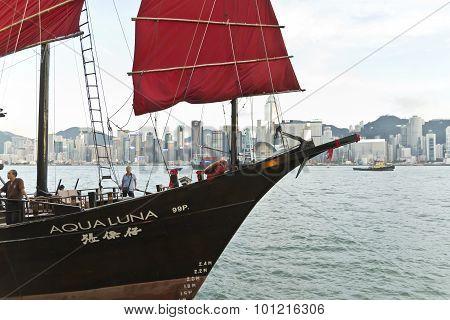 Aqua Luna Junk Harbour Cruise In Hong Kong