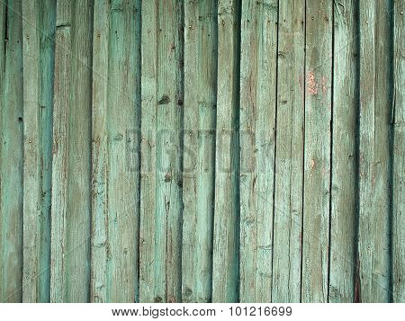 Detail Of The Old Fence From Wooden Planks