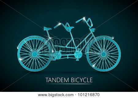 Tandem Bicycle Vector Background