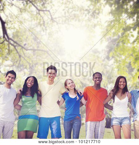 Diversity Friends Friendship Teamwork Huddle Concept