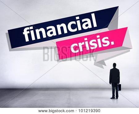 Financial Crisis Banking Economics Accounting Concept