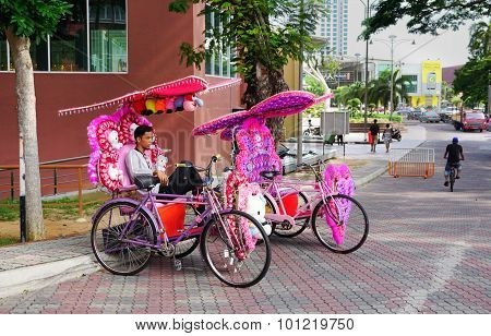 Decorative Trishaw At Malacca