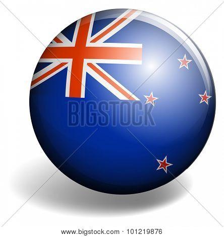 United Kindom flag on round badge illustration