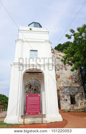 People Visit At St. Paul's Church, Malacca