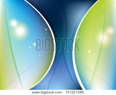 Abstract Wavy Background Color