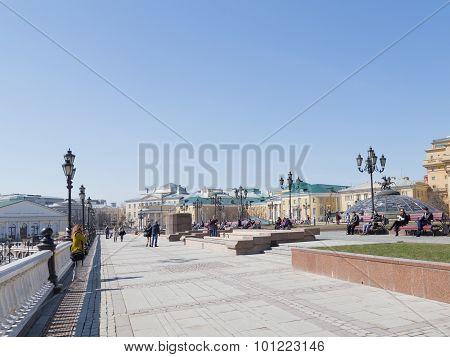 Manezhnaya Square In Fine Weather