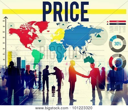 Price Cost Commodity Money Product Shopping Concept
