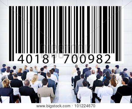 Bar Code Digital Information Purchasing Seminar Concept
