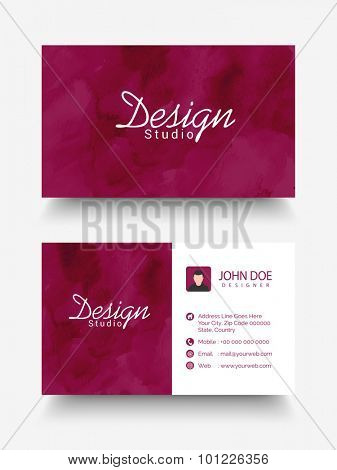 Creative horizontal business card, name card or visiting card set with space for your image and company informations.