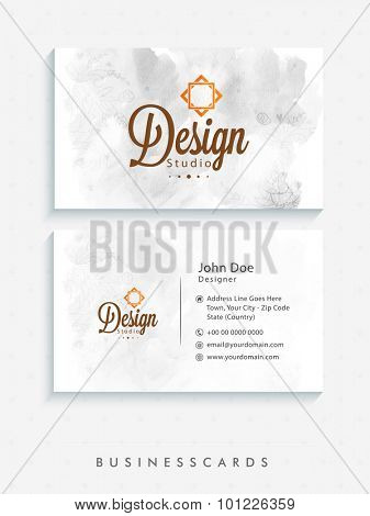 Creative horizontal business card, name card or visiting card design.