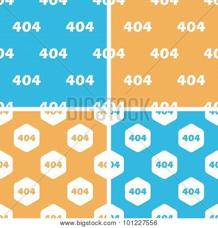 404 pattern set, colored