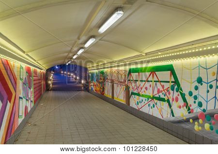 Abstract Graffiti In The Underpass