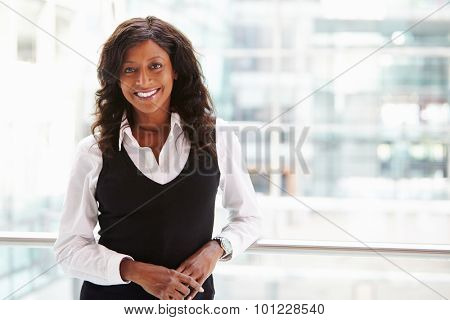 Mixed race businesswoman, waist up portrait
