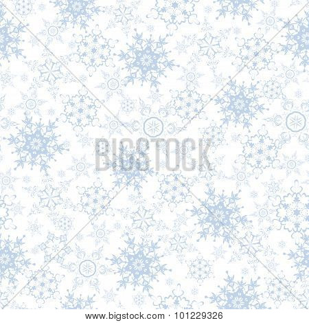 Festive Luxury Seamless Pattern With Snowflakes