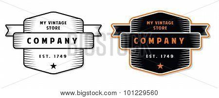 Vintage Engraved Badge