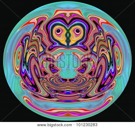 Abstract colorful Paperweight