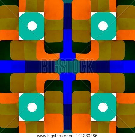Abstract design with color samples