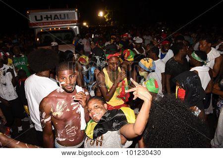 Revelers fill Flatbush Avenue