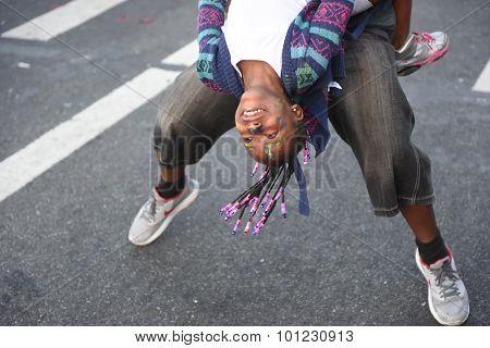 Dancing upside down