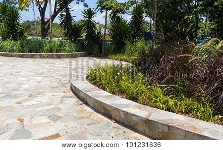 Retaining Wall Made Of Natural Stone
