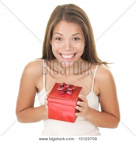 Gift Woman Surprised