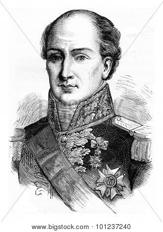 General Eble, vintage engraved illustration. History of France - 1885.