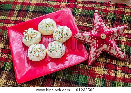 Christmas shortbreads and a seasonal decorative star.