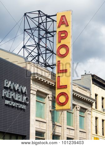 NEW YORK,USA - AUGUST 19,2015 : The famous Apollo Theater in Harlem