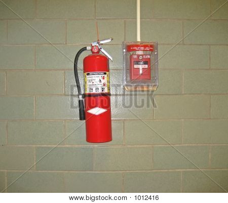 Fire Extinguisher And Emergency Alarm