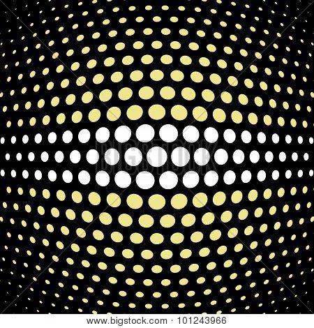 Khaki and white polka dot background