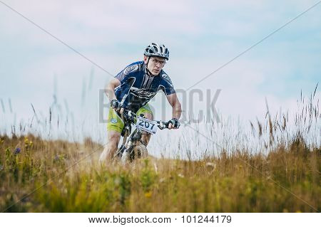 racer mountainbiker downhill