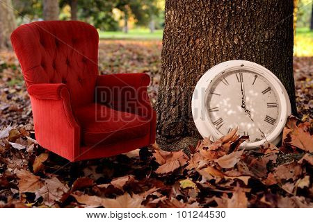 Relax, Is Fall Time Concept Vintage Background