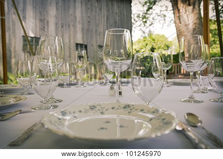 Table with glasses
