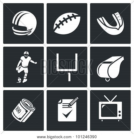 Football Vector Icons Set