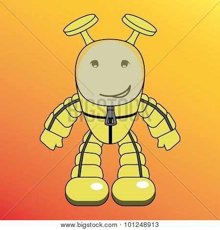 Cartoon humanoid, alien or robot