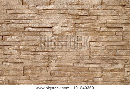 Plaster Imitating Stone Wall Closeup