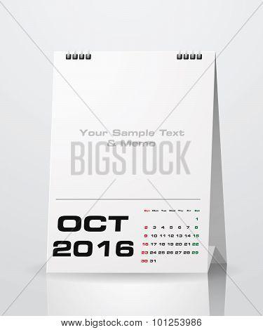 October 2016 Calendar.