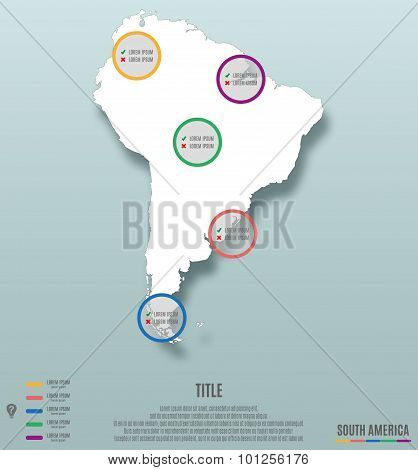 South America Continent Map Infographics